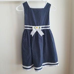 Girl's Rare Editions Polka Dot Dress